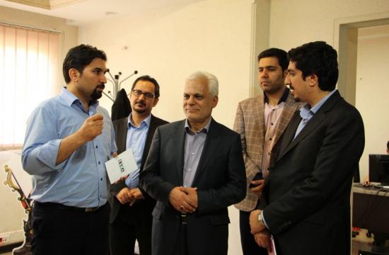 بازدید سردار مرتضی طلایی از بنیاد ملی بازیهای رایانهای