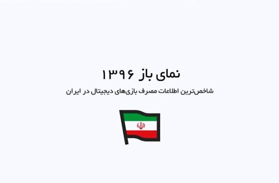 نمای باز 1396؛ شاخصترین  اطلاعات مصرف بازیهای دیجیتال در ایران