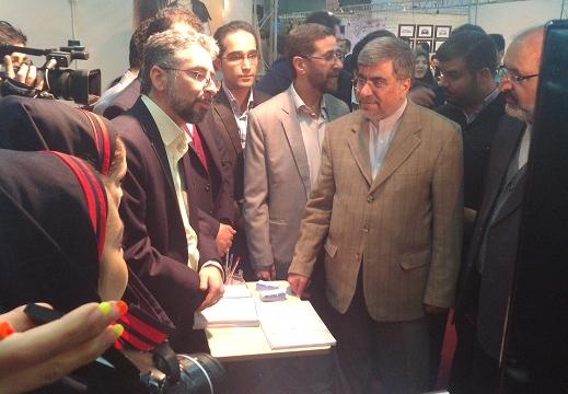 بازدید وزیر فرهنگ و ارشاد اسلامی از غرفه دانشگاه گیم بنیاد